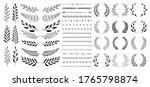 set of black circular foliate...   Shutterstock .eps vector #1765798874