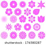 a collection of flowers for the ... | Shutterstock .eps vector #176580287