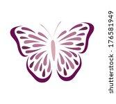 butterfly   Shutterstock .eps vector #176581949