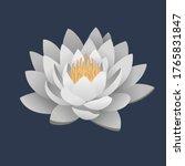 logo white waterlily lotus... | Shutterstock .eps vector #1765831847