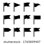 flag icons. shapes for pennants ... | Shutterstock .eps vector #1765839407
