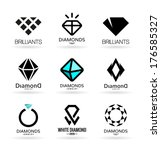 diamonds  6  | Shutterstock .eps vector #176585327