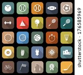 sport flat icons with long... | Shutterstock .eps vector #176585969