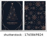 set of elegant christmas... | Shutterstock .eps vector #1765869824