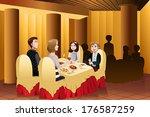 a vector illustration of happy... | Shutterstock .eps vector #176587259