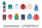 kids male casual summer  autumn ... | Shutterstock .eps vector #1765875617