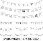 set of hand drawn garland... | Shutterstock .eps vector #1765877864
