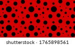 Ladybug Seamless Pattern With...
