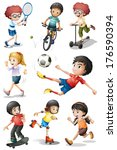 illustration of the kids... | Shutterstock . vector #176590394