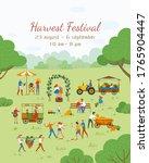 Harvest Festival Vector  People ...