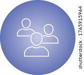 beautiful meeting line vector... | Shutterstock .eps vector #1765915964