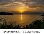 Beautifull Sunset Over A Lake...