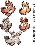 cartoon wolf familiy character... | Shutterstock .eps vector #1765980431