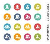 avatar icons    fresh colors   Shutterstock .eps vector #1765982561