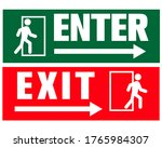 enter and exit sign for public... | Shutterstock .eps vector #1765984307