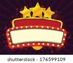 cinema gold banner | Shutterstock .eps vector #176599109