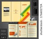 vector brochure template design ... | Shutterstock .eps vector #176602724