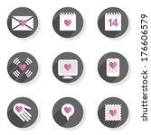 love feelings calendar letter... | Shutterstock .eps vector #176606579