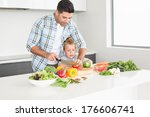 father teaching his son how to... | Shutterstock . vector #176606741