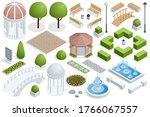 isometric icon set for... | Shutterstock .eps vector #1766067557