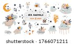 childish collection  marine... | Shutterstock .eps vector #1766071211