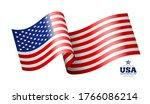 american flag  waving design...   Shutterstock .eps vector #1766086214