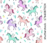 seamless repeat pattern with...   Shutterstock .eps vector #1766087024
