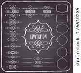 vintage calligraphic design... | Shutterstock .eps vector #176610239