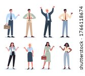 business people showing a sign...   Shutterstock .eps vector #1766118674