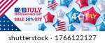 4th of july party poster or... | Shutterstock .eps vector #1766122127