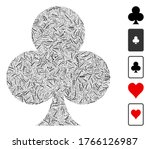 hatch mosaic based on clubs...   Shutterstock .eps vector #1766126987
