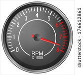 Tachometer illustration isolated on white background - stock photo