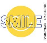 happy slogan t shirt print... | Shutterstock .eps vector #1766183201