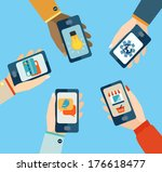 concept for mobile apps  flat... | Shutterstock .eps vector #176618477