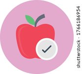 apple vector flat color icon | Shutterstock .eps vector #1766186954