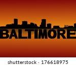 baltimore skyline reflected at...   Shutterstock .eps vector #176618975