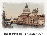 Stylized Watercolor Image Of...