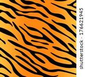 tiger skin pattern | Shutterstock .eps vector #176621945