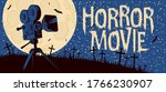 horror movie banner. vector... | Shutterstock .eps vector #1766230907