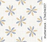 seamless daisy floral pattern... | Shutterstock .eps vector #1766246357