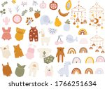 vector hand drawn collection... | Shutterstock .eps vector #1766251634