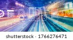 compliance theme with abstract... | Shutterstock . vector #1766276471