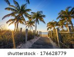 famous passage to the beach  ... | Shutterstock . vector #176628779