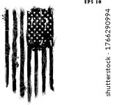 usa flag. distressed american... | Shutterstock .eps vector #1766290994
