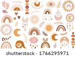vector hand drawn boho clipart... | Shutterstock .eps vector #1766295971