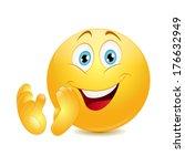 emoticon clapping. vector. | Shutterstock .eps vector #176632949