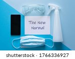 the new normal concept   hand...   Shutterstock . vector #1766336927