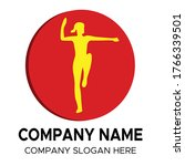 woman exercising logo. designed ...   Shutterstock .eps vector #1766339501