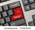 Computer Keyboard With Help Ke...