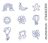 star and miscellaneous things...   Shutterstock .eps vector #1766362304